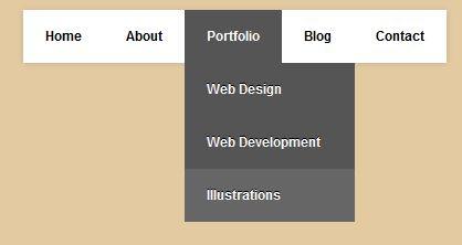 Simple Style Pure CSS3 Dropdown Menu ~ NEW CSS3 MENU