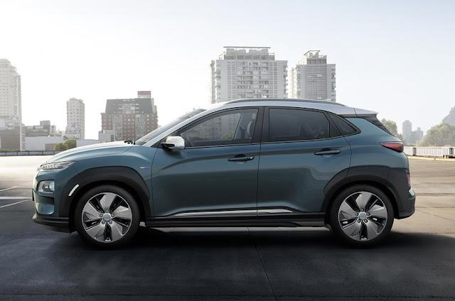 New Hyundai Kona Electric side view