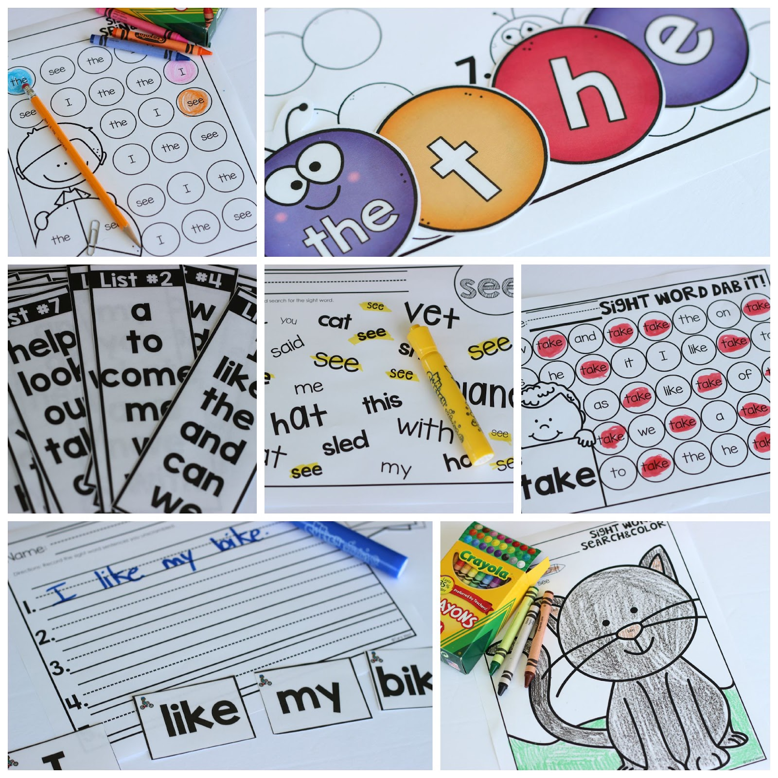 Free Sight Word Fluency Dab It Freebies T Sight Words