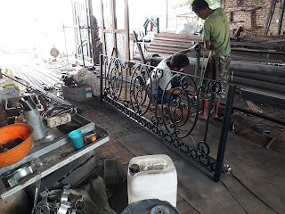 Railing, Balkon, Besi, Tempa, Klasik, Minimalis
