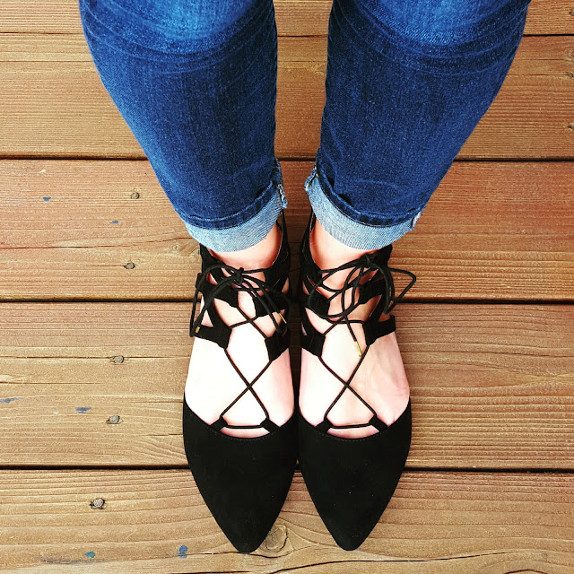 Mossimo Nara Lace Up Ballet Flats for only $25