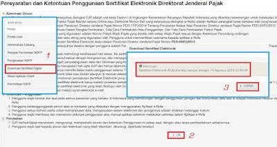 Download Sertifikat Elekronik di Enofa Online