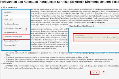 Setelah Update e-Faktur Versi 2.0 Jangan Lupa Import Sertifikat Elektronik