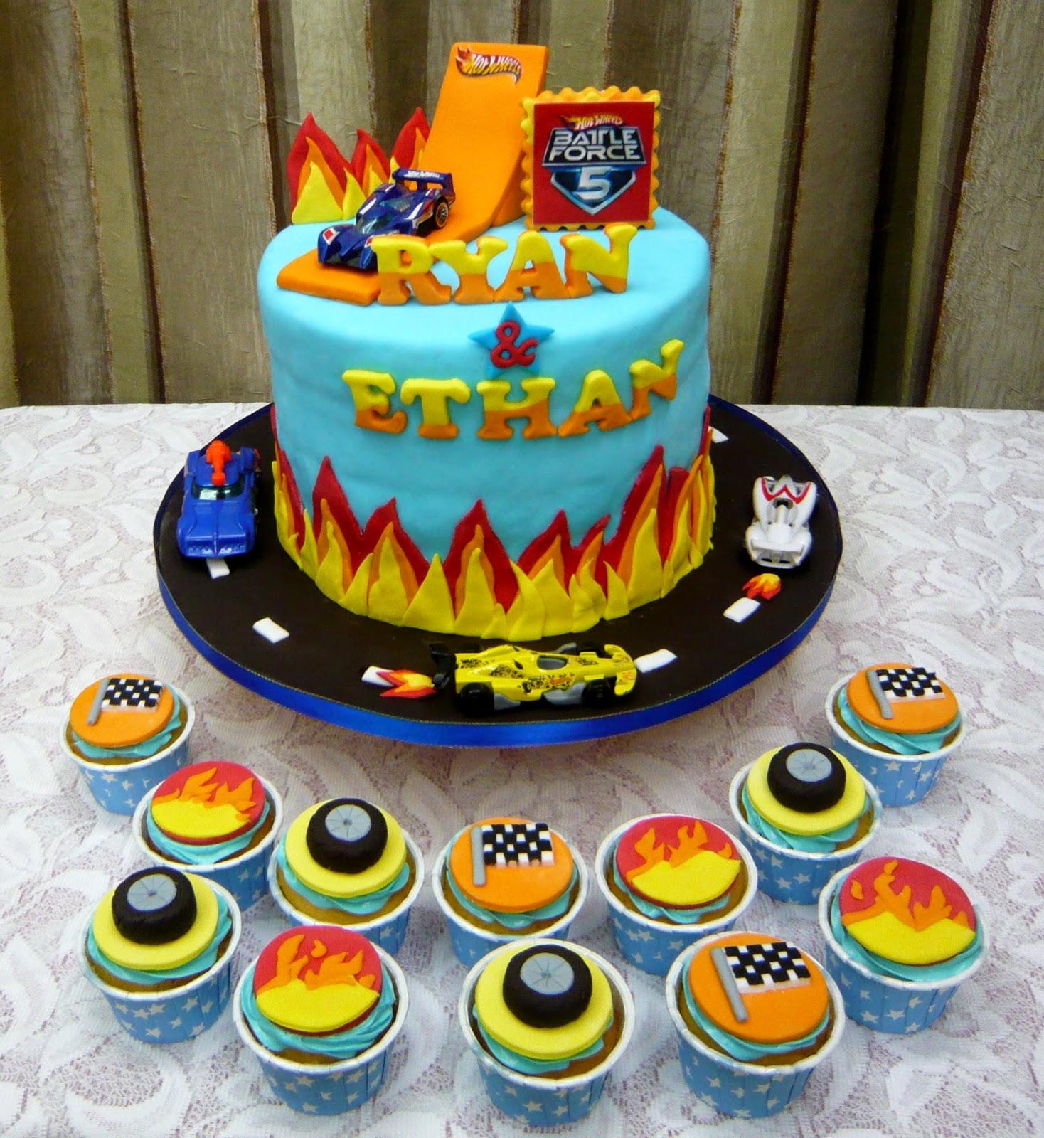 Jenn Cupcakes Amp Muffins Hot Wheels Theme Cake Amp Cupcakes