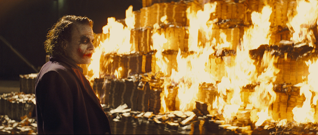 Joker; some men just want to watch the whole world burn