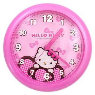 Gambar Jam Dinding Hello Kitty 2