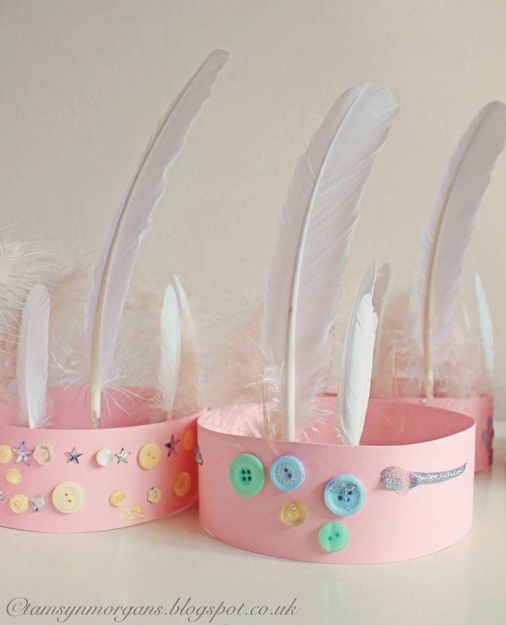 Feather crowns…