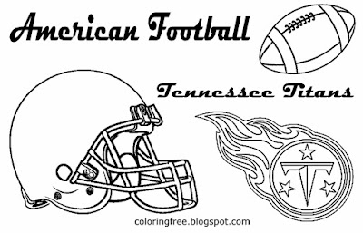 Tennessee Titans printable American South football coloring pictures for youngsters US sport games