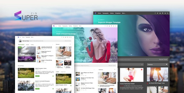 Superzin is responsive, elegant first Blogger template that has advance elegant admin panel, everything is automated, no need coding. Very powerful and easy to use, setup takes few minute in few clicks.