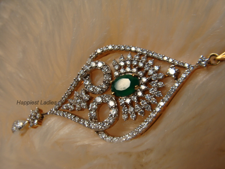Diamond Pendant From Kalyan Jewellers Happiest Ladies