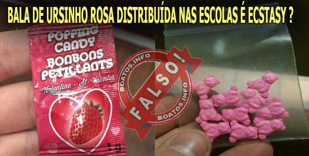 Balas Popping Candy são ecstasy distribuídos nas escolas - Falso