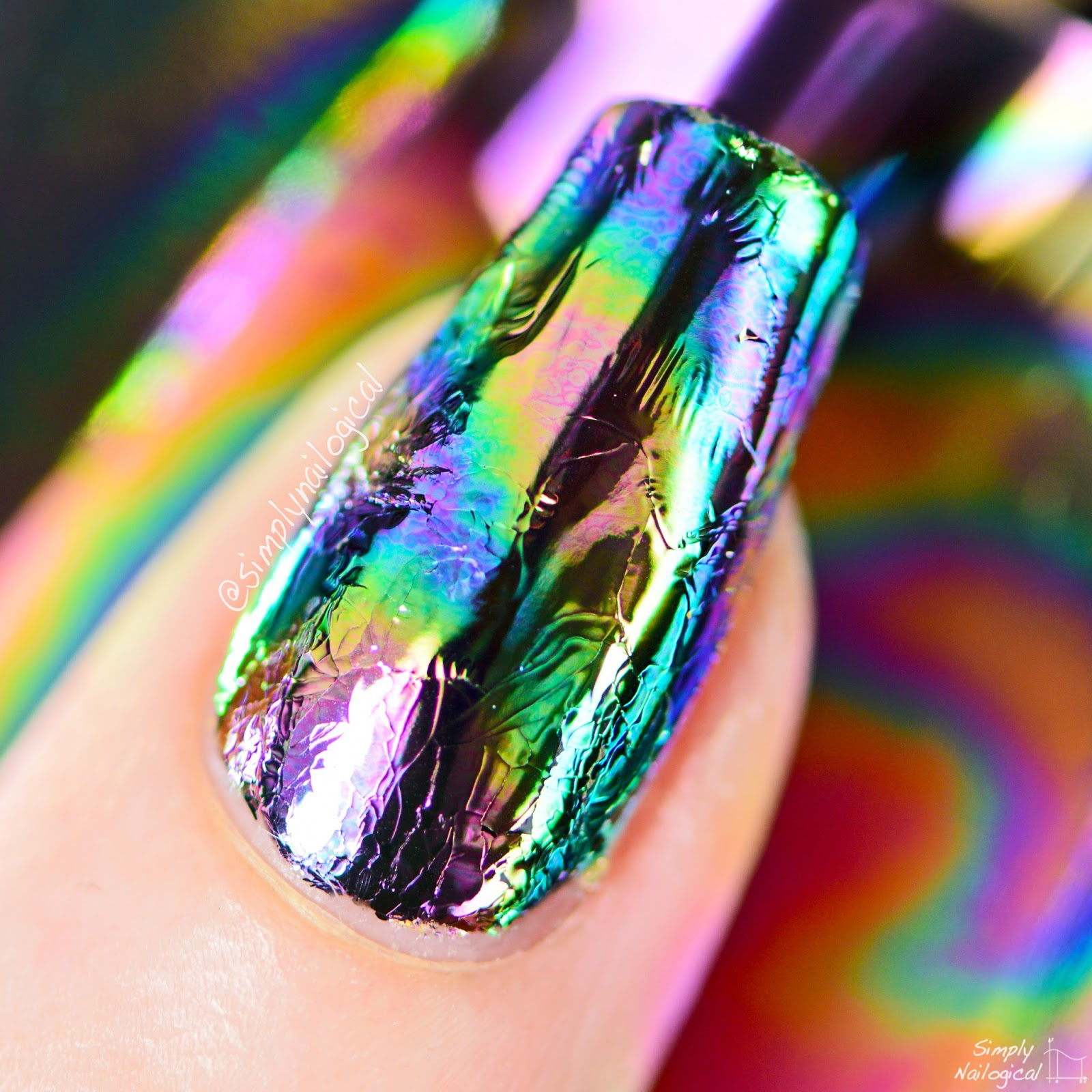 Simply Nailogical: Oil spill / oil slick nails