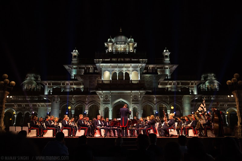 The Landwehr orchestra at Jaipur.