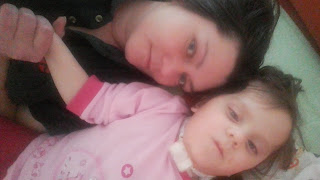 malá Katka s mamkou Klárou