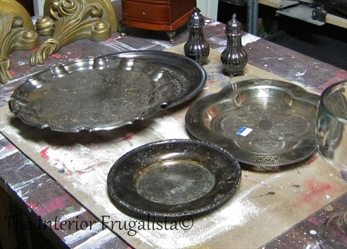 Silver plates found at thrift stores