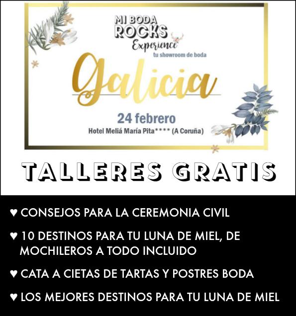 talleres gratis mi boda rocks experience galicia 2019