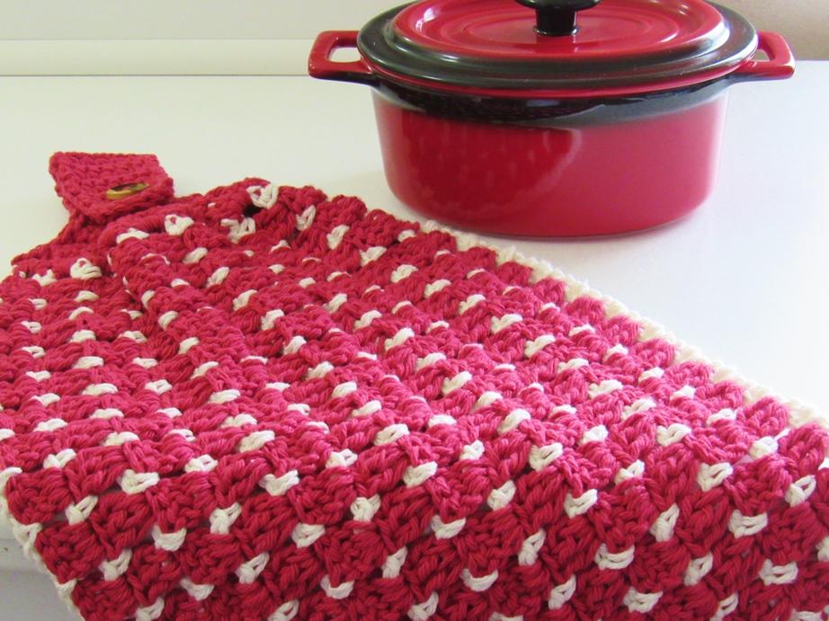 Crochet Dreamz Block Stitch Kitchen Or Tea Towel Free Crochet Pattern