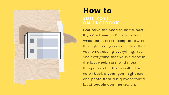 How To Edit Facebook Post<br/>