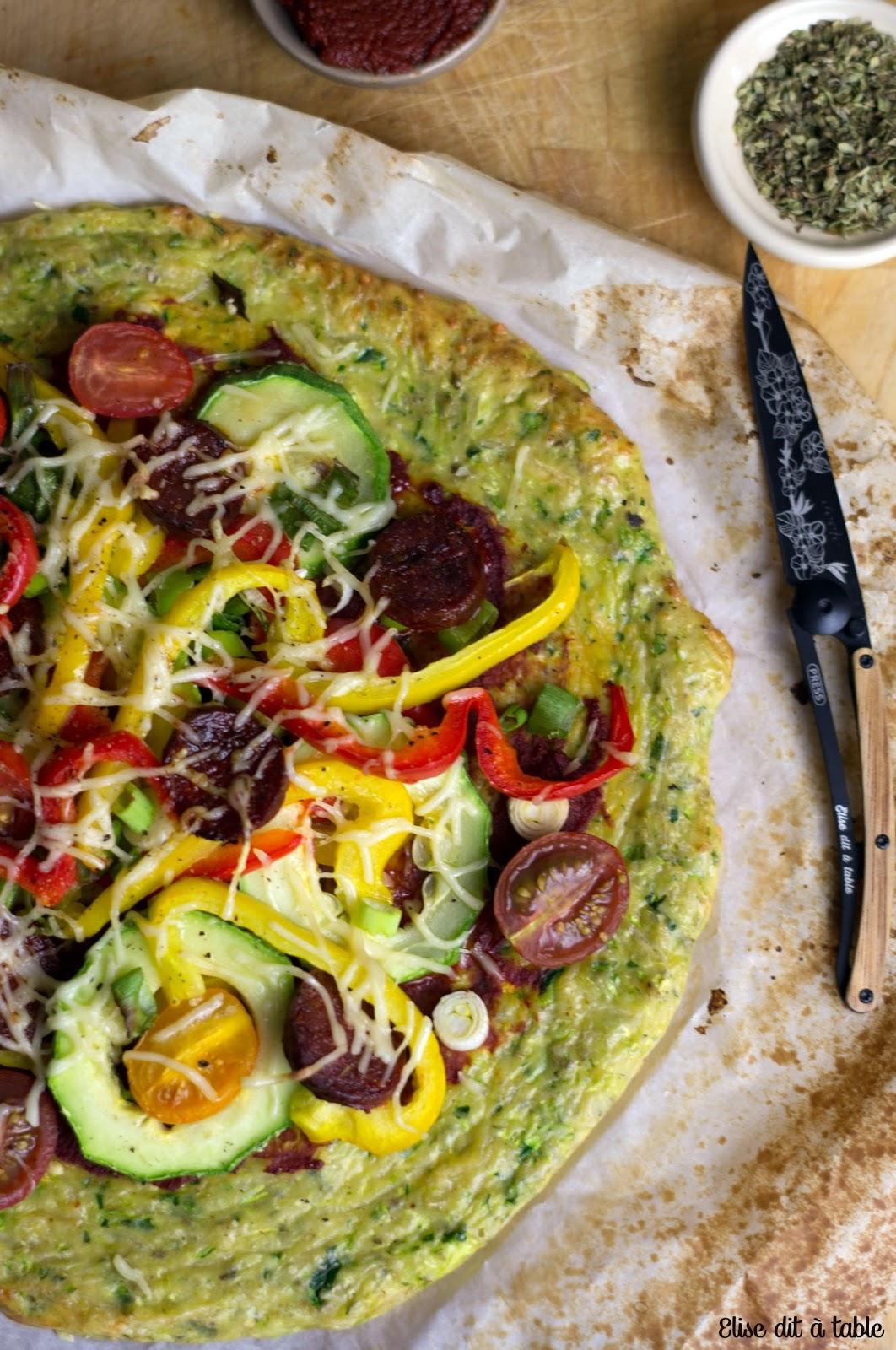 recette pizza courgette