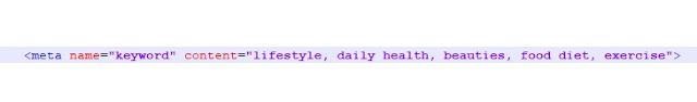 meta keyword