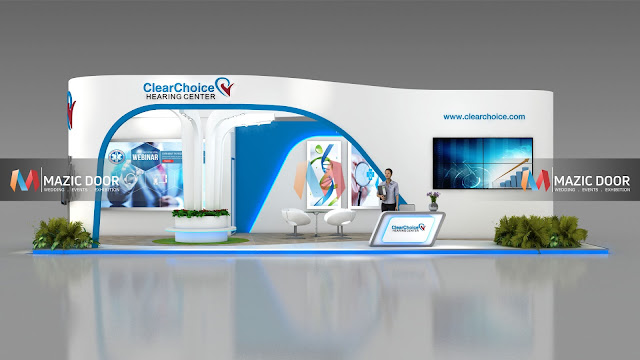 9m by 3m Exhibition stall Design 2