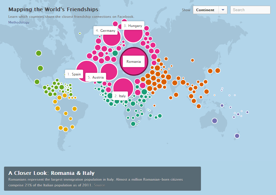 Facebook Stories Mapping the world's friendships