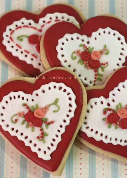 Galleta decorada San Valentin