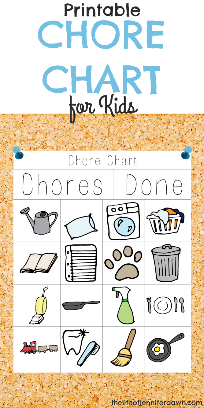 It's just an image of Crafty Printable Chore Pictures