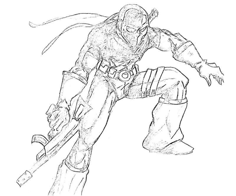 coloring pages of deathstroke costume   DC Universe Deathstroke   Yumiko Fujiwara