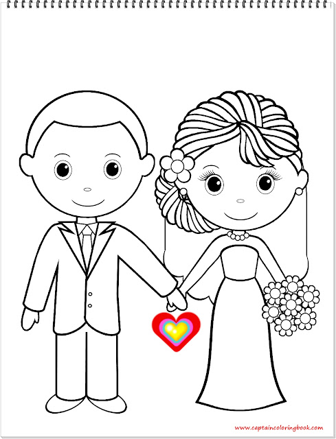 Wedding Bride coloring book