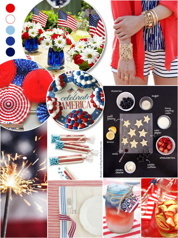 Red, White & Fabulous 4th of July Party Ideas - via BirdsParty.com