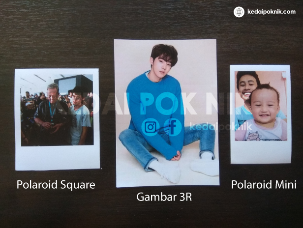 Cuci Gambar Polaroid Kedai Pok Nik
