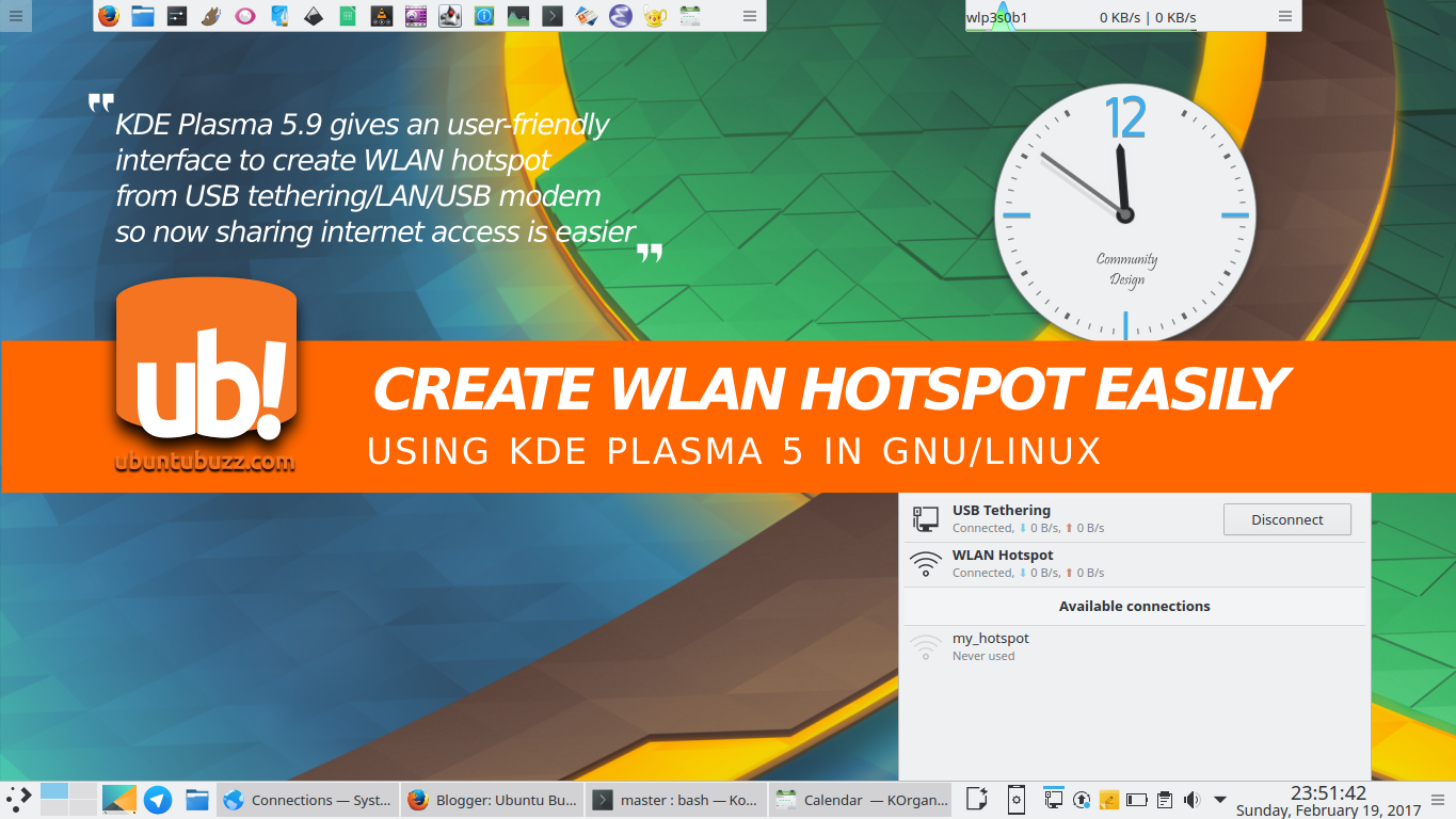 How To Create WLAN Hotspot on Ubuntu with KDE Plasma 5