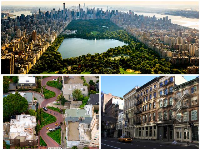 Центральний парк у NYC та Ломбард-стріт у Сан-Франциско