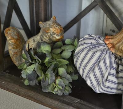 Handmade Pillow Ticking Pumpkin
