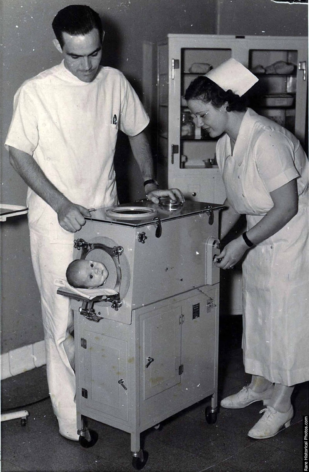 1940s pediatric iron lung.