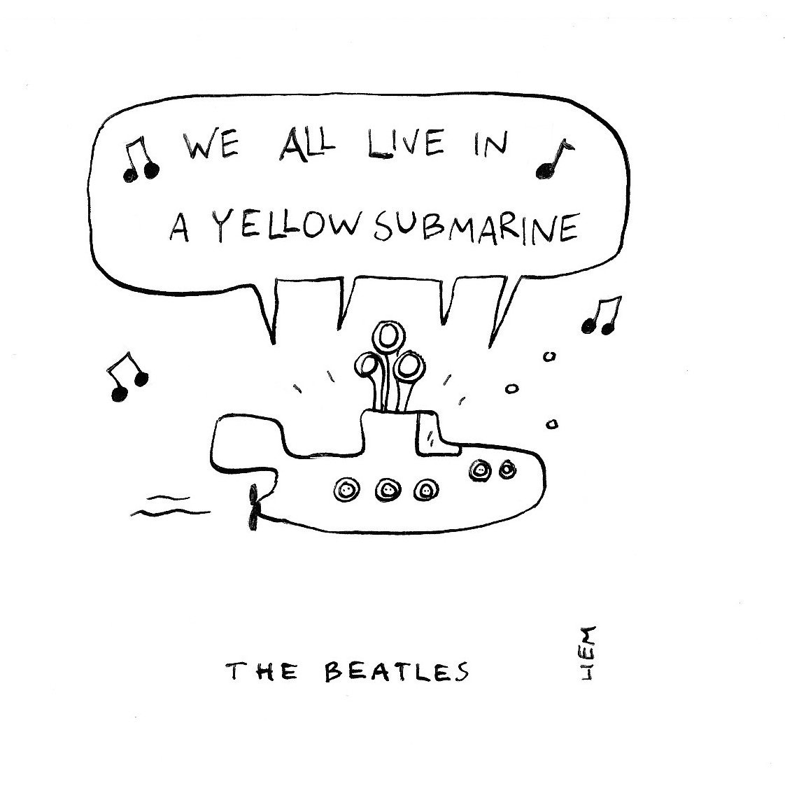 Sketchbook: 365 Songs: 323. Yellow Submarine