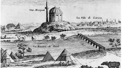Φανταστική απεικόνιση της Λάρισας του 1669