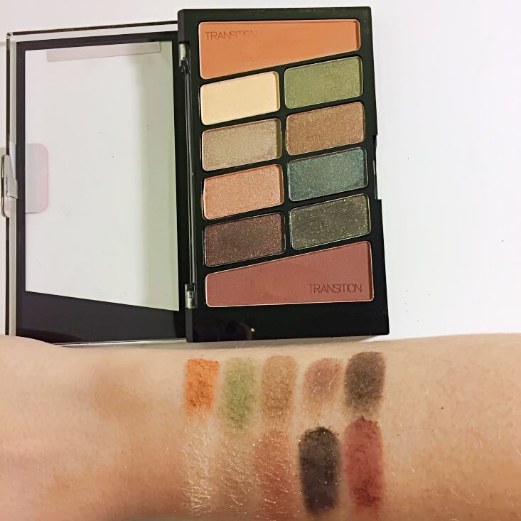wet n wild coloricon 10 Pan Eyeshadow Palette Comfort Zone swatches