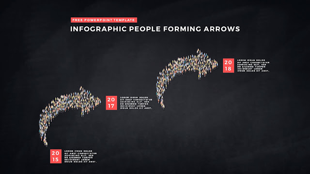 Free PowerPoint Template with Infographic People Forming Arrows Slide 6