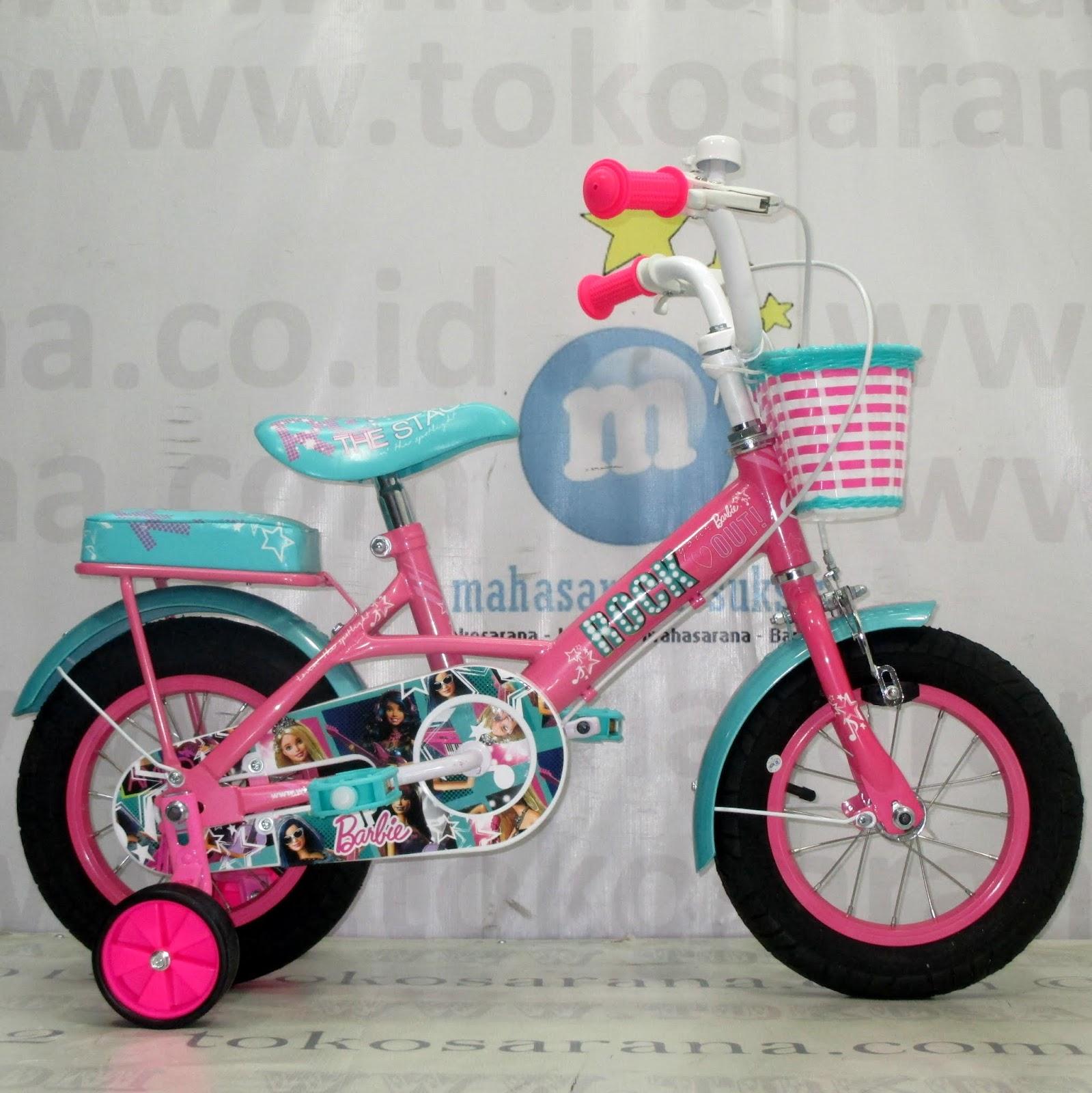 Sepeda Anak Wimcycle Barbie Rock 12 Inci Lisensi News
