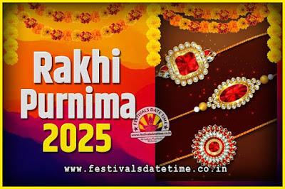 2025 Rakhi Purnima Date and Time, 2025 Rakhi Purnima Calendar