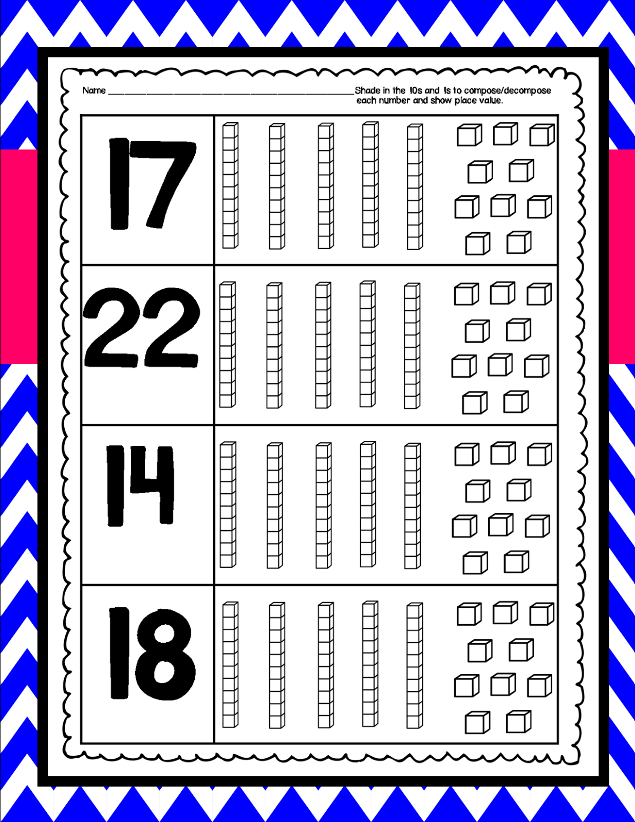 Kindergarten Squared Compose Decompose Numbers And Place
