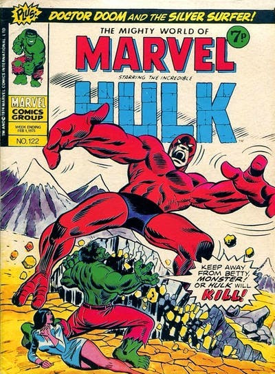 Mighty World of Marvel #122, the Hulk