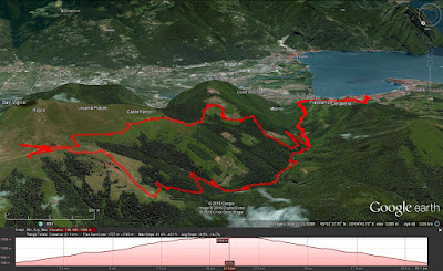 A hiking route from Lovere to Rifugio Magnolini