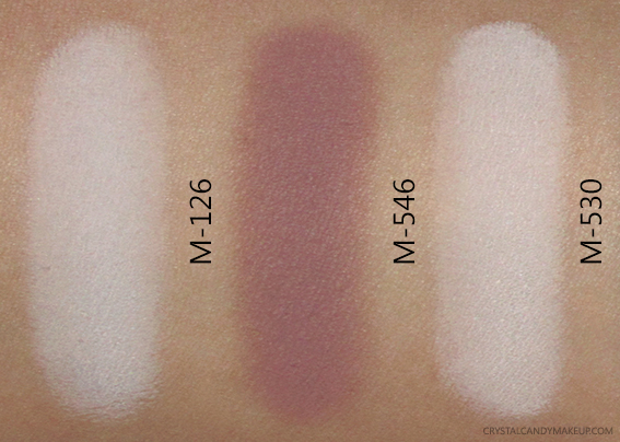 MUFE Artist Shadow Palette 4 M126 M546 M530 Swatches