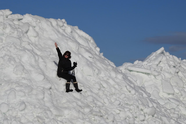 irja, jäätikkö, ranta, kevät, Laitapauha, ahtojäät