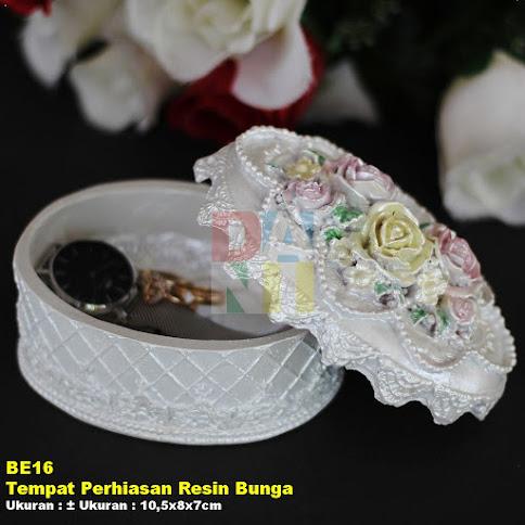 Tempat Perhiasan Resin Bunga