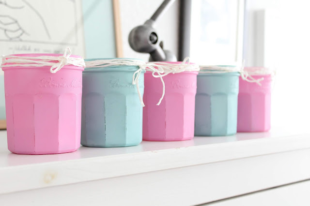 tutorial de velas de verano con chalk paint