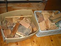 木工の端材